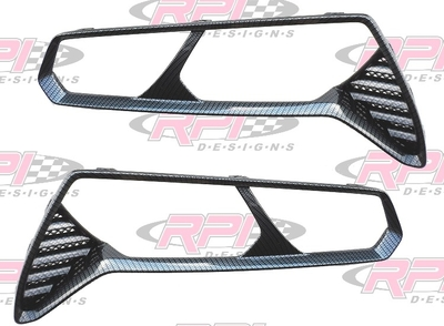 C7 Corvette Stingray Hydro Carbon Fiber Taillight Bezels (tail light)