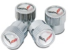 C7 Corvette Wheel Valve Stem Caps Set