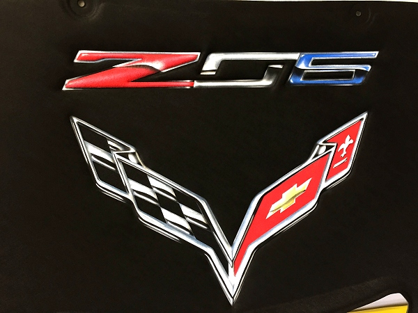 C7 Z06 Corvette Stingray Premium Airbrushed Hood Liner