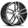 C7 Corvette Stingray Z51 Wheels - Black w/Machined Face (Set)