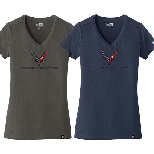C8 Corvette Ladies V-neck Tee