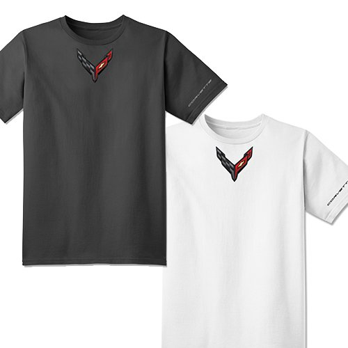 C8 Corvette Mens Carbon Badge Tee
