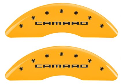 2016-2019 Camaro Caliper Covers Yellow with  Logos