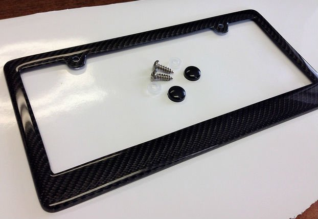 Jeep Grand Cherokee SRT Carbon Fiber License Plate Frame and Caps ...