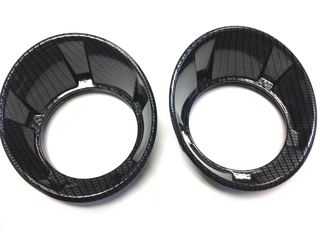 2010-2013 Camaro Carbon Fiber Fog Light Bezels