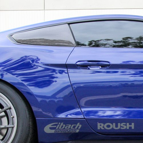 Ford Mustang Carbon Fiber Side Window Louvers Flat ...