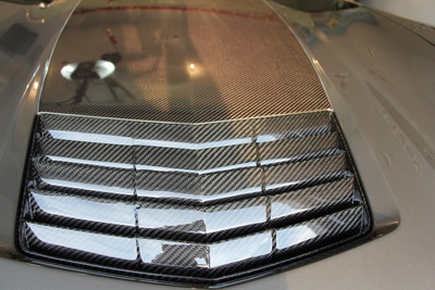 C7 Corvette Stingray Real Carbon Fiber Hood Vent Insert
