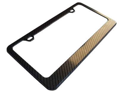 c6 corvette carbon fiber license plate frame