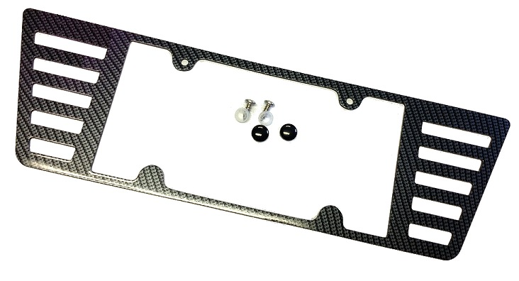 c6 corvette carbon fiber finish rear license plate frame
