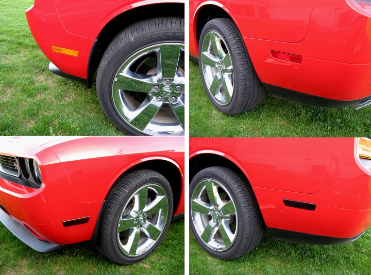 2009-2014 Dodge Challenger Acrylic Side Marker Blackouts