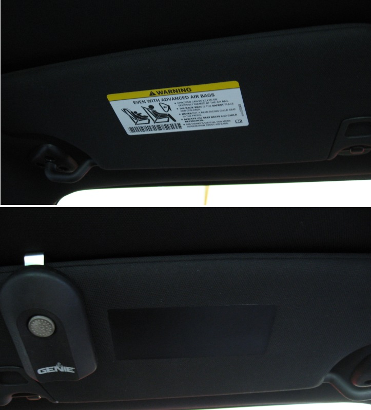 2009-2014 Challenger Visor Decal Covers