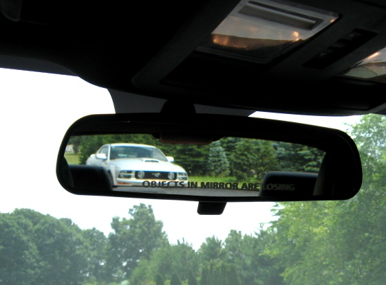 2009 2014 challenger rearview mirror objects decals