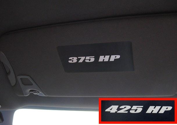 2015 Mustang Hood >> Challenger Visor Decal Covers w/Horsepower - RPIDesigns.com