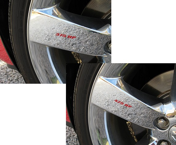 2009-2014 Dodge Challenger Wheel Decals Set