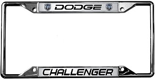 2009-2014 Dodge Challenger License Plate Frame