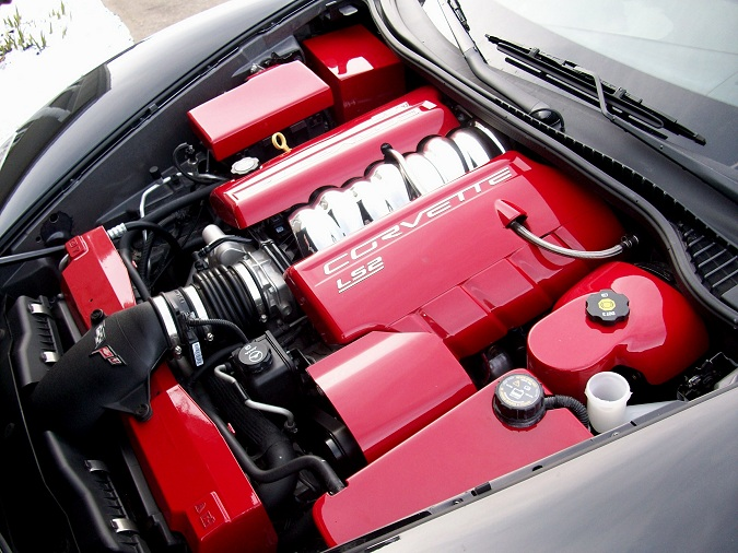 C6 Corvette Painted Complete Engine Kit