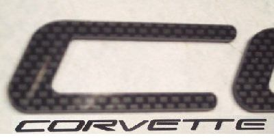1997-2004 C5 Corvette Rear Carbon Fiber Letters