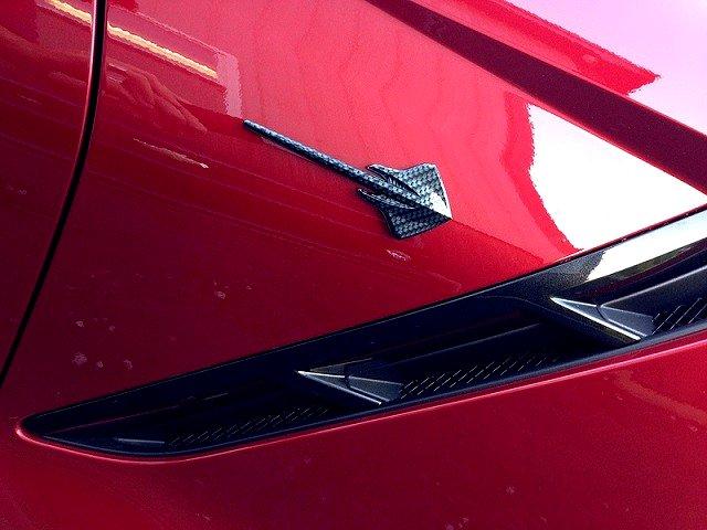 C7 Corvette Hydro Carbon Fiber Stingray Fender Emblems