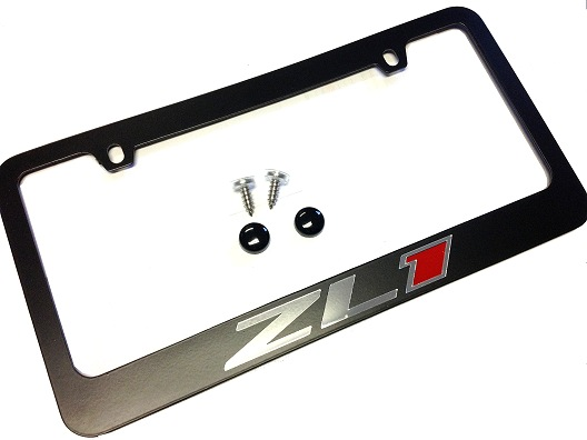 new from rpi camaro zl1 rear license plate frame wlogo in black or chrome camaro5 chevy camaro forum camaro zl1 ss and v6 forums camaro5com