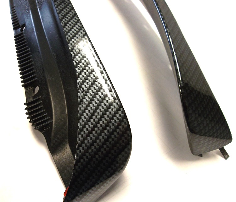 c6 corvette carbon fiber splash guards mud flaps