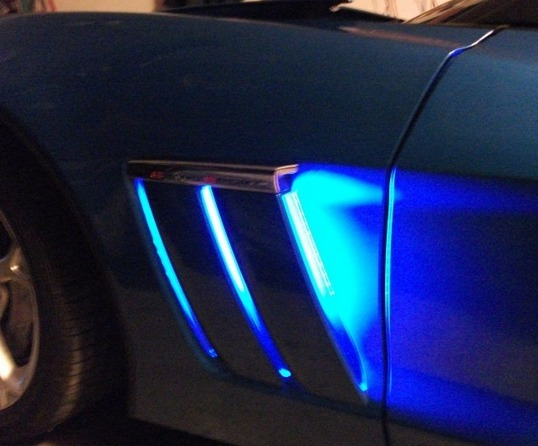 C6 Corvette Grand Sport LED Fender Cove Lighting Kit