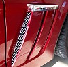 C6 Corvette Grand Sport Front Fender Vents Mesh