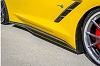 C7 Corvette Carbon Fiber Side Skirts Rockers by TruFiber