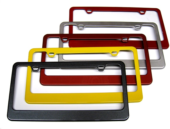 c7 corvette painted license plate frame