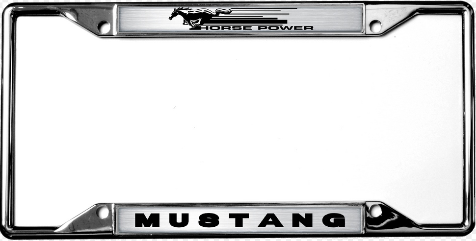 2015-2018 Mustang License Plate Frame Chrome - RPIDesigns.com