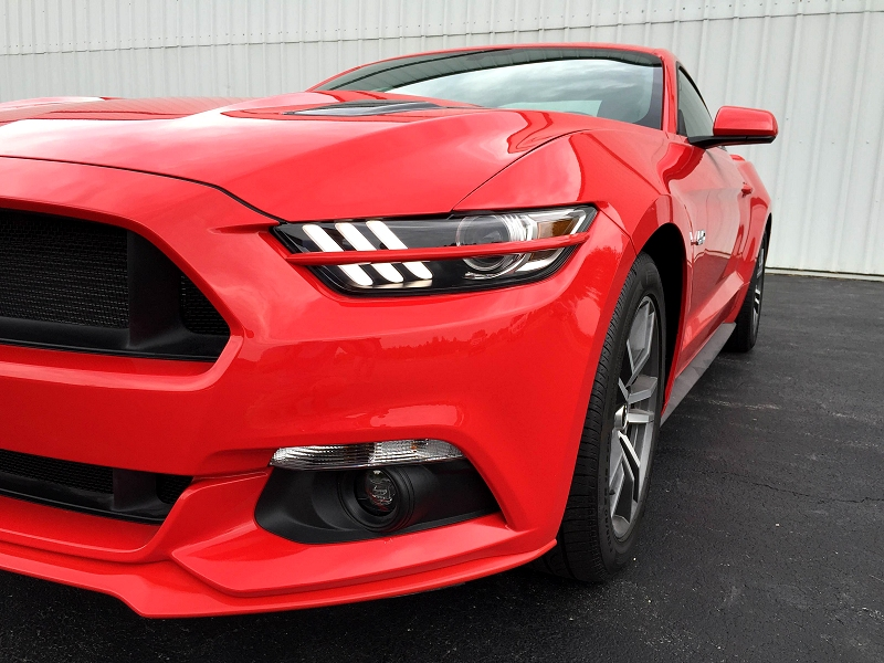 2015-2017 Ford Mustang Painted Headlight Splitters