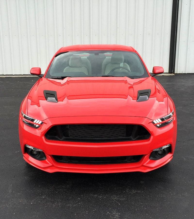2015 Ford Mustang Painted Headlights Splitters