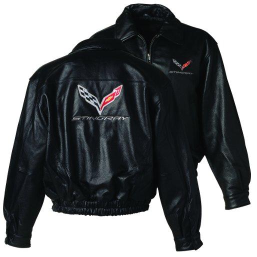 C7 Corvette Men S Leather Bomber Jacket Rpidesigns Com