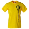 C7 Corvette Stingray Vertical Yellow T-Shirt