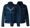 C7 Corvette Womens Rhinestone Denim Jacket