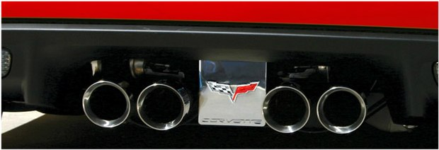 C6 Corvette Billet Exhaust Plate; NPP/Z06