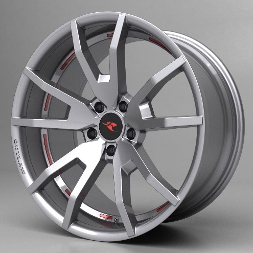 Ford Mustang Outlaw Wheels HO Silver Finish