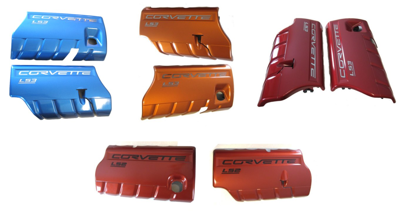 C6 Corvette Painted LS7 Z06 427 Covers