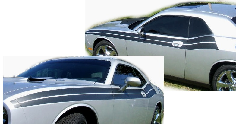 2009-2014 Dodge Challenger R/T Style Side Stripes