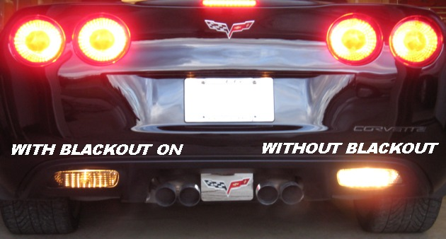 2005-2013 c6 corvette rear tail light blackout kit