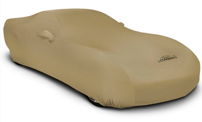 2008-2019 Dodge Challenger Coverking Satin Stretch Car Cover Tan
