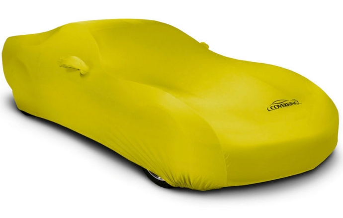 2008-2019 Dodge Challenger Coverking Satin Stretch Car Cover Yellow