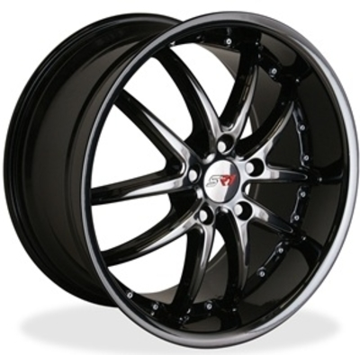 C6 Corvette SR1 Apex Performance Wheels - Black Chrome