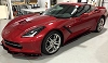 "C7 Corvette Stingray Side Skirts -Z06 Style - ""Signature Series"" Striped"