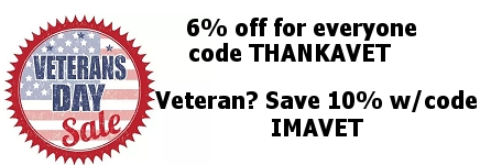 Veteran's Day Sale 2018