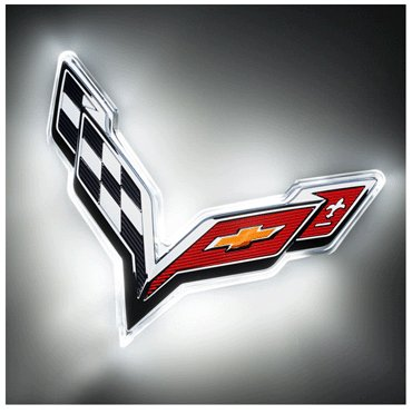 C7 Corvette LED Rear Emblem Illuminated