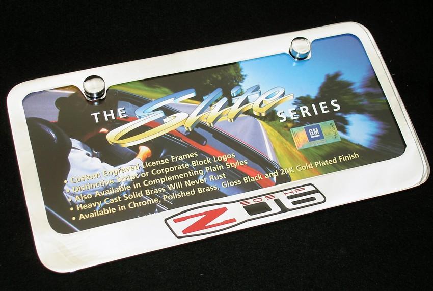 Corvette ZR1 Chrome Plated License Plate Frame