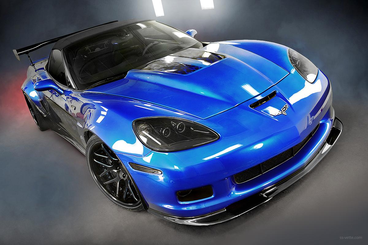 c6 corvette carbon fiber zr1 front splitter