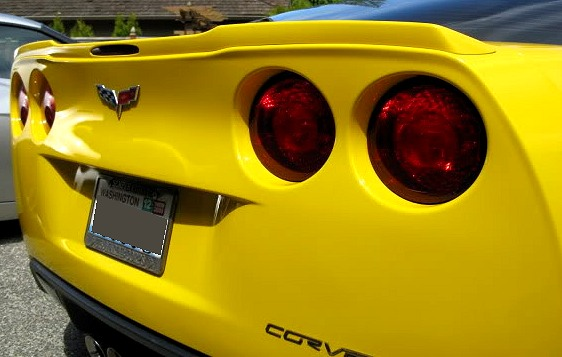 1996 Ford Mustang Parts 2005-2013 C6 Corvette Body Color Painted ZR1 Rear Spoiler