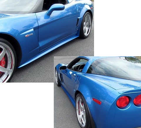 C6 Corvette Side Skirts; Centennial Z07 Style