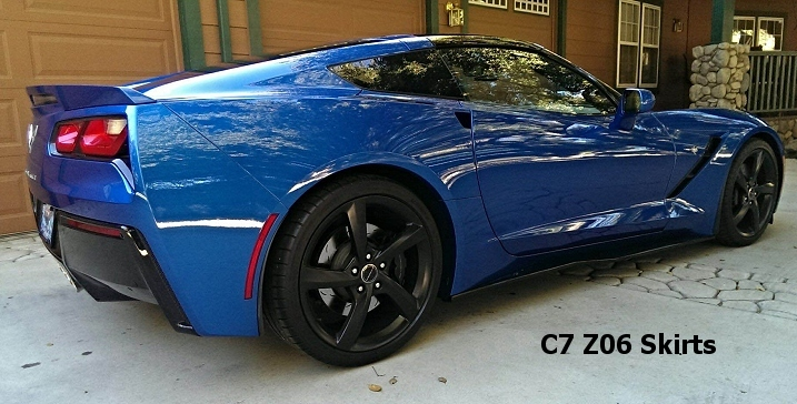 C7 Z06 Style painted carbon flash metallic side skirts